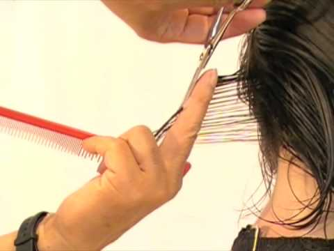 Short Layer Haircut Step By Step Youtube