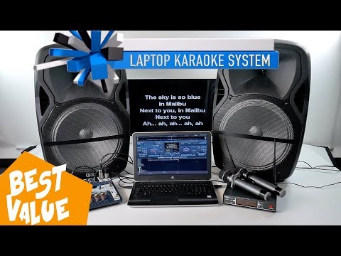 Laptop Karaoke System | 4,300W Speakers | Pro Mixer | BEST Microphones with 1,000 FREE SONGS!