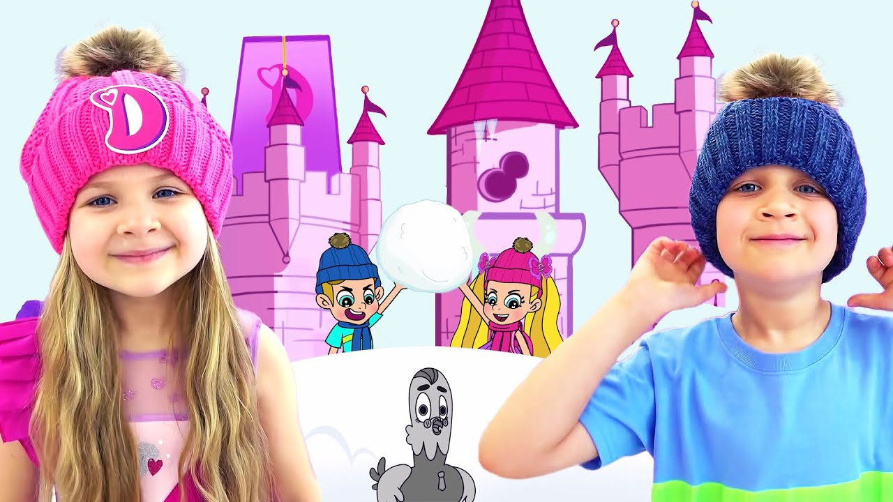 Диана и Рома спасают Замок от снега