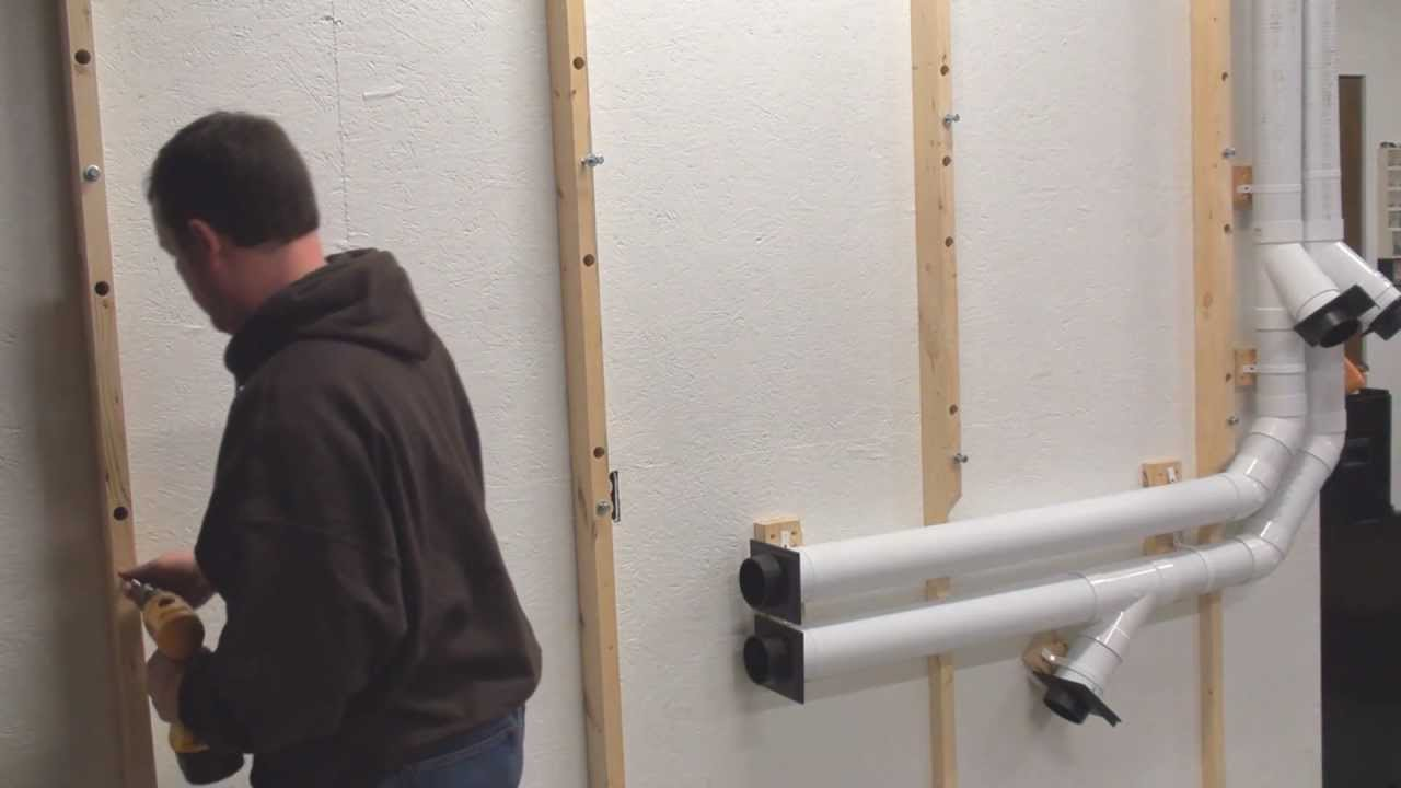 Lumber Storage Rack From 2x4 And Pipe In Garage Wood Shop   Part 2   YouTube