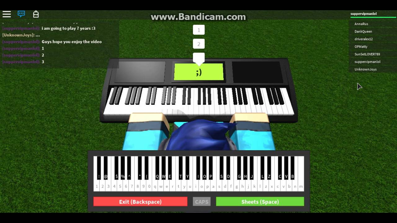 roblox got talent how to play piano