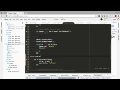 Repeat SAPUI5 - Aggregation Binding by Tutorials Point