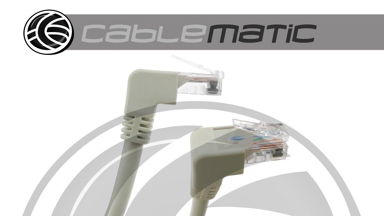 Cable de red de categor a 6 cat 6 rj45 acodado utp 24awg for Cable de red categoria 6