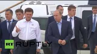 Russia: Putin tours site of Russia