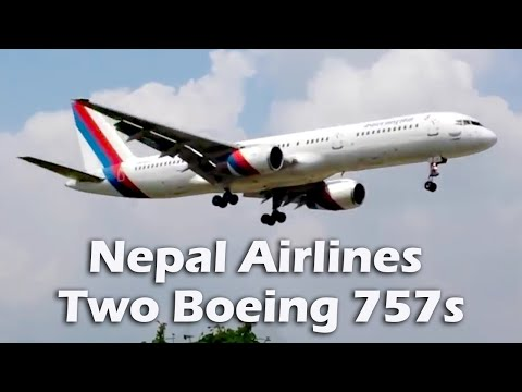 Nepal Airlines two Boeing 757s