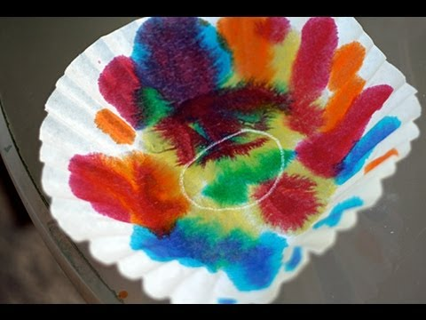 Dipping and Dying Color Art Activity for Children Cullen
