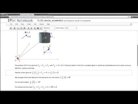 13 Velocity and acceleration in 3D using cylindrical coordinates