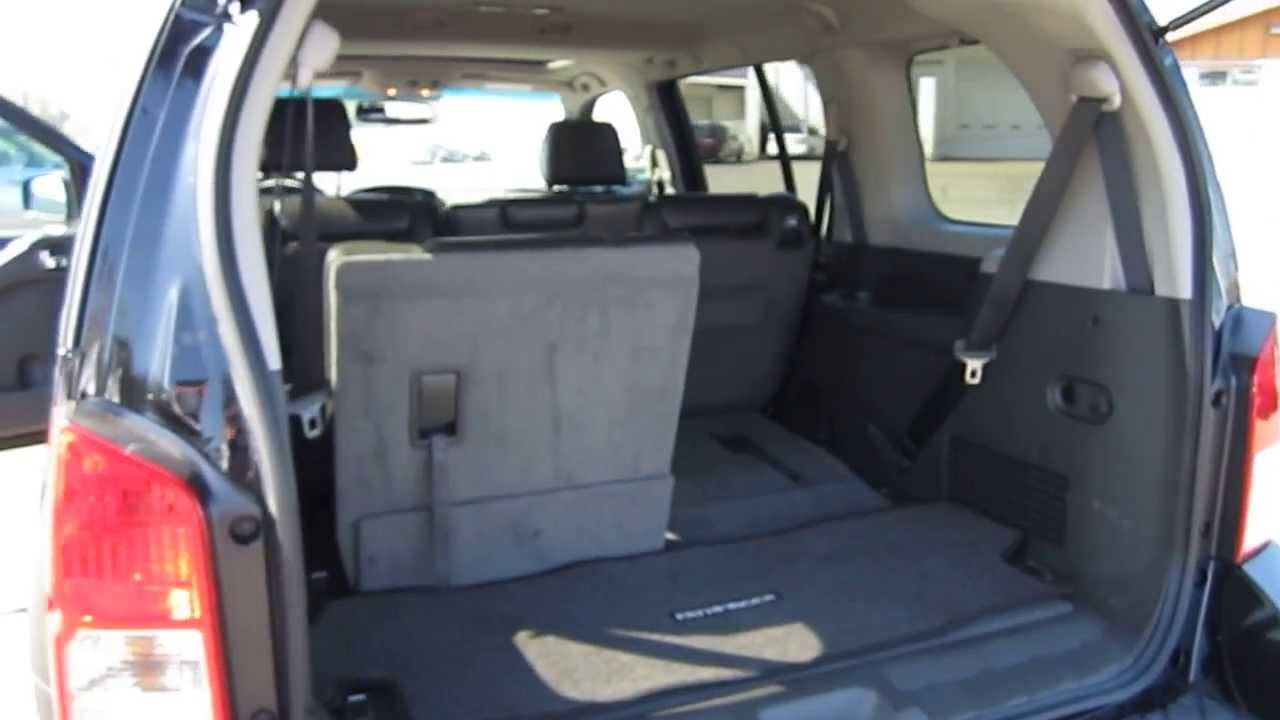 2008 nissan pathfinder black stock a3118a interior rear