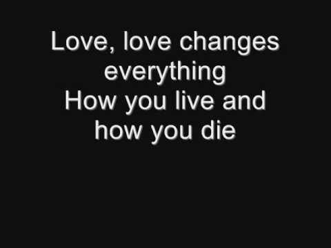 Il Divo and Michael Ball -  Love Changes Everything (lyrics)