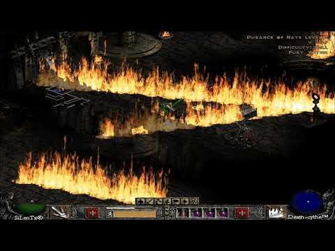 Diablo 2 - Sorceress full unique jewel vs Mephisto in Hell | The fury within