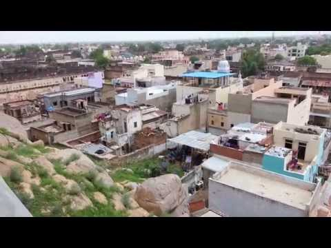View of Laxmangarh Town from the Laxmangarh Fort - RAJASTHAN, Best Tourist Village Ever (HD Video)