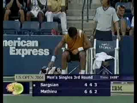 2004 US Open Sargsian vs Mathieu (3rd set)