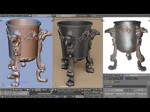 Classic style urn decoration timelapse