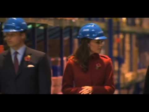 William and Kate visit the Unicef supply centre in Copenhagen