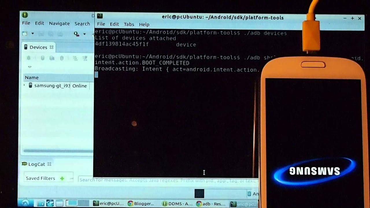 adb command to reboot Android device