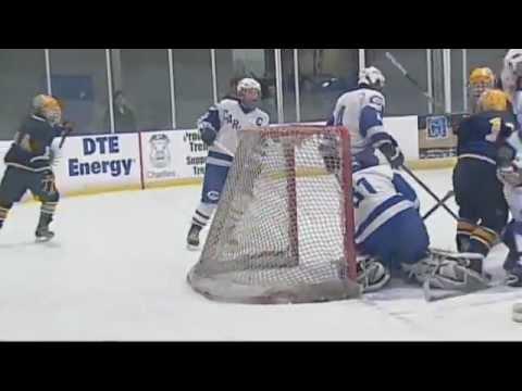 MHSAA Hockey Trenton v Carlson