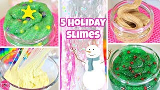 5 Holiday Slimes - Christmas Slimes!
