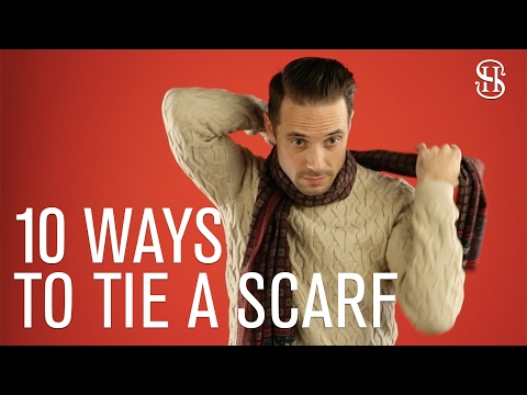 10 Ways To Tie A Scarf - He Spoke Style