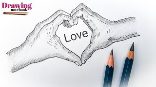 How to draw Couples hands | pencil drawing couples hands | Simple pencil sketch couples hands
