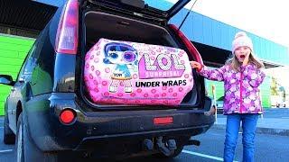 Гигантская капсула LOL Decoder в маминой машине или Операция ЛОЛ. Видео для детей