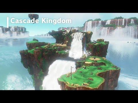 Super Mario Odyssey | Cascade Kingdom - All Power Moons & Wheels