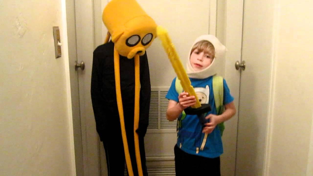 adventure time finn & jake halloween costumes - youtube
