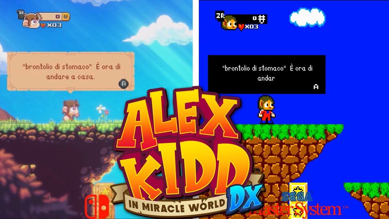 Alex Kidd in Miracle World DX   Graphics Comparison - Nintendo Switch vs. Sega Master System - ITA