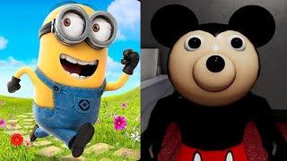 Despicable Me Minion Rush vs PIGGY MICKEY MOUSE