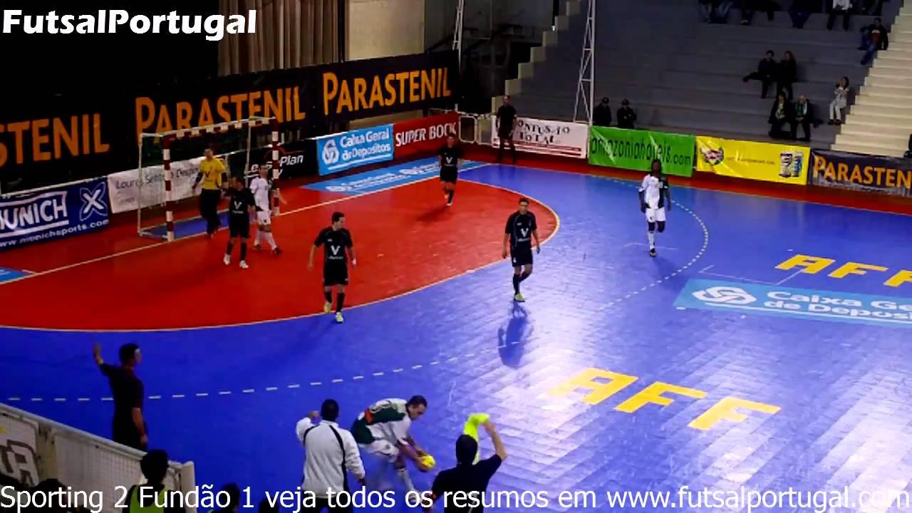 Futsal :: 04J :: Sporting - 2 x Fundão - 1 de 2010/2011