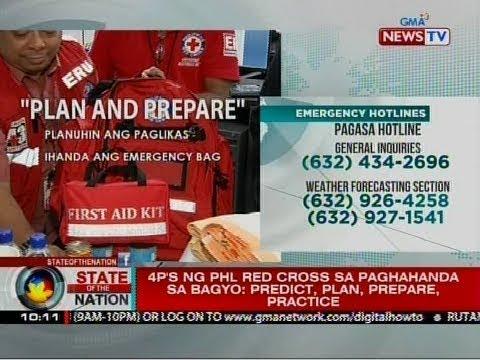 SONA: 4ps ng Phl Red Cross sa paghahanda sa bagyo: Predict, Plan, Prepare, Practice