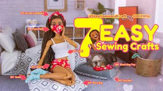 DIY - How to Make: 7 EASY Sewing Crafts | Face Mask | Cami | Bean Bag & More #StayHome #WithMe
