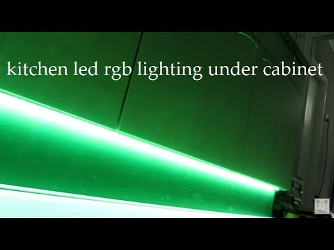 Led Rgb Strip Light Kitchen Block Cabinet Youtube
