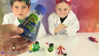 Gross Toilet Science Lab Experiment! Overflow Toilet Slime + Joker Superheroes HobbyKidsTV