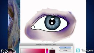 Adding Flesh tone around the eye tutorial