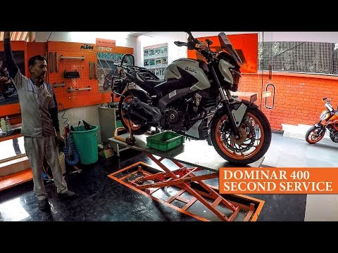 Dominar 400 on KTM bay for Second Service after Ladakh trip | Completed 5114 km |