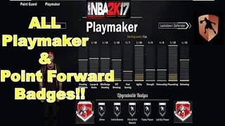 All Playmaker + Point Forward Badges & Grand Badge Tutorial