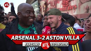 Arsenal 3-2 Aston Villa | The Fans Got Behind The Team & The Atmosphere Lifted Them!