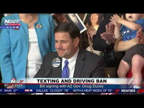 TEXTING & DRIVING BAN IN AZ: Gov. Doug Ducey signs into law