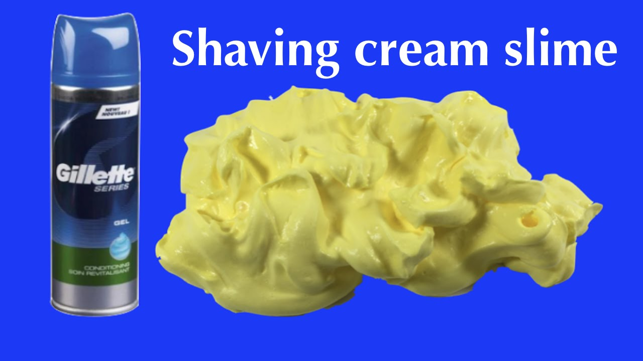 Diy How To Make Fluffy Slime With Shaving Cream No Borax Without Liquid  Starch Or Detergent