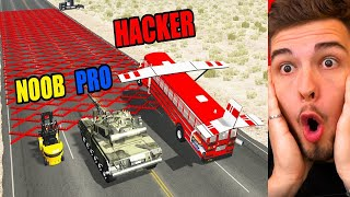 NOOB vs. PRO. HACKER?! (BeamNG Drive)