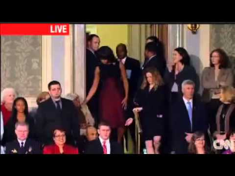 Michelle Obama and Supreme Court Justices Introduced at 2013 State of the Union Address