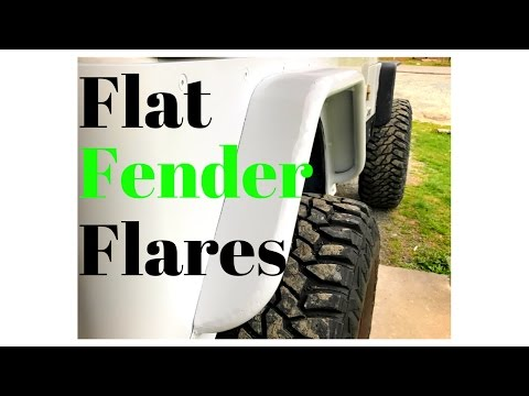 DIY Jeep Trail Tubes Fender Flares - Rear