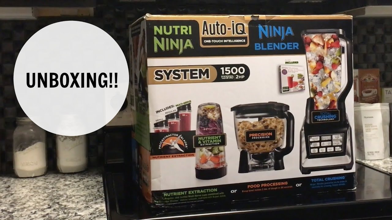 Nutri ninja blender system with auto iq technology - Nutri Ninja Nutri Blender System With Auto Iq Unboxing Bl682