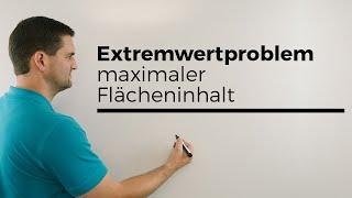 Extremwertproblem, Punkt auf Graph, Dreieck, maximaler Flächeninhalt, Ansatz