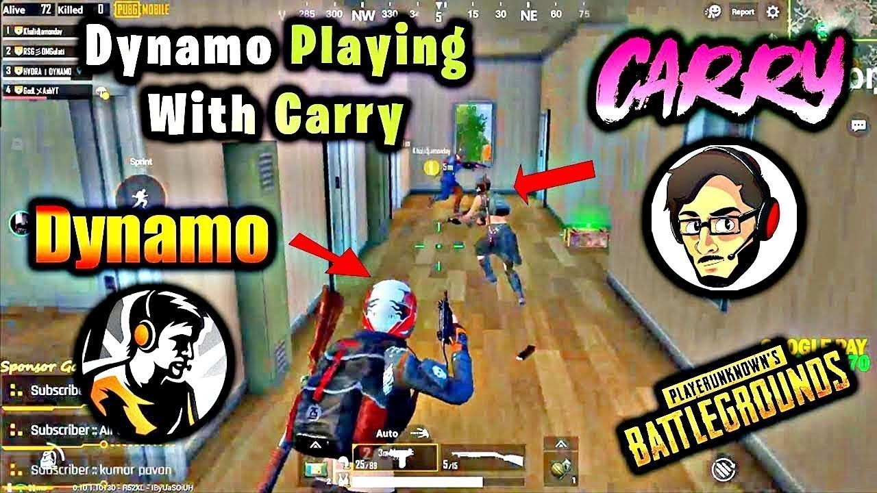 Dynamo Playing with Carryminati | intense and funny game | #dynamogaming #carryminati #pubgmobile