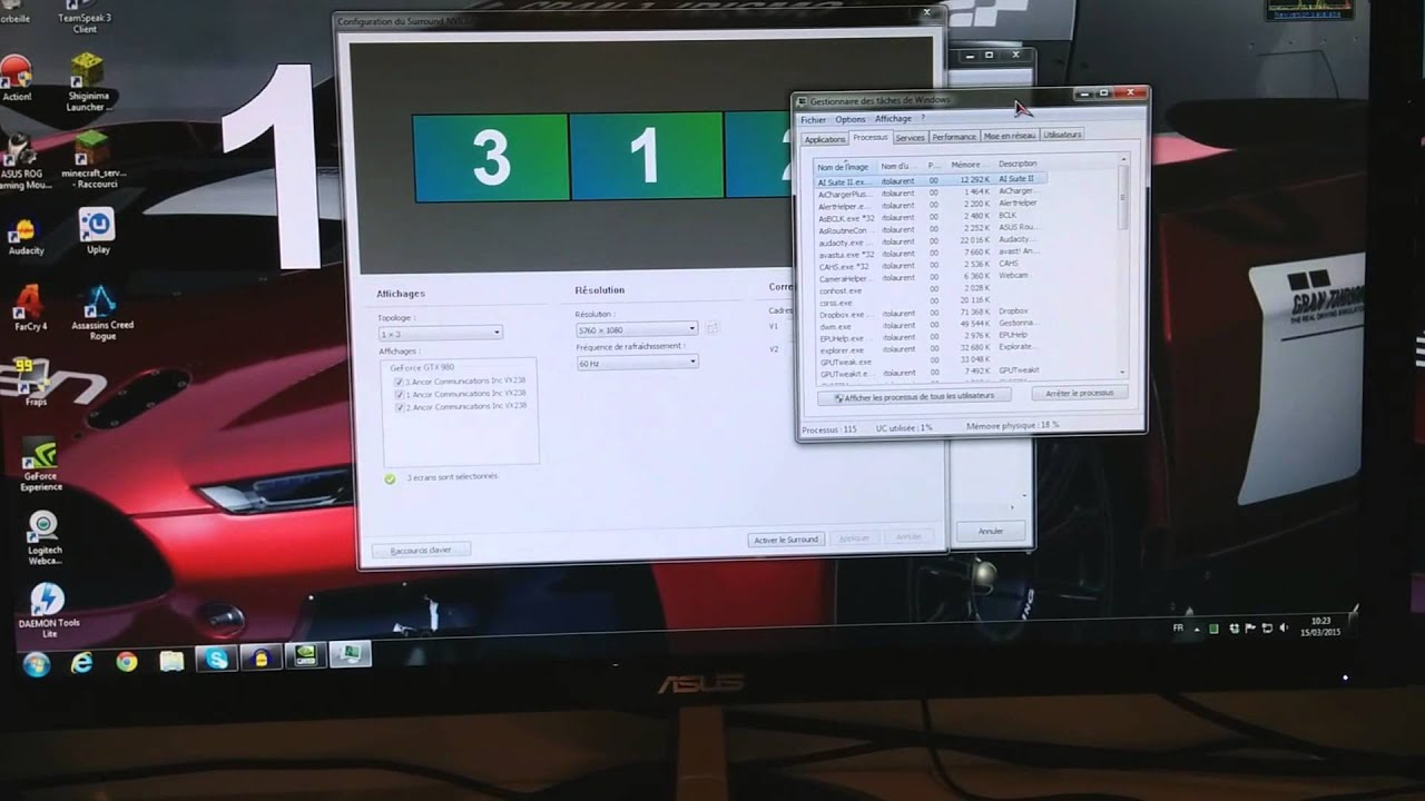 Tuto tri screen surround nvidia multi écran youtube