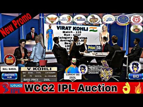 🔥Wcc2 IPL Auction New Promo | Editing Promo | Technical Editing Gamer |