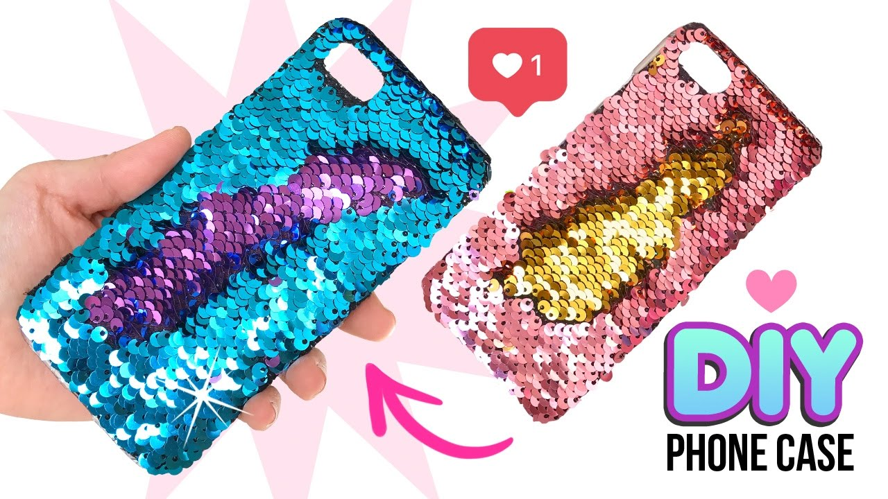 size 40 df929 60d62 DIY Amazing VIRAL Color-Changing Phone Case!! DIY Mermaid Sequin Phone Case!