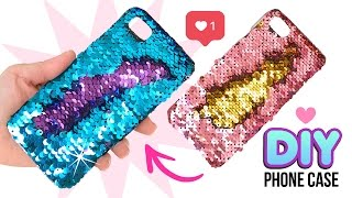 DIY Amazing VIRAL Color-Changing Phone Case!! DIY Mermaid Sequin Phone Case!