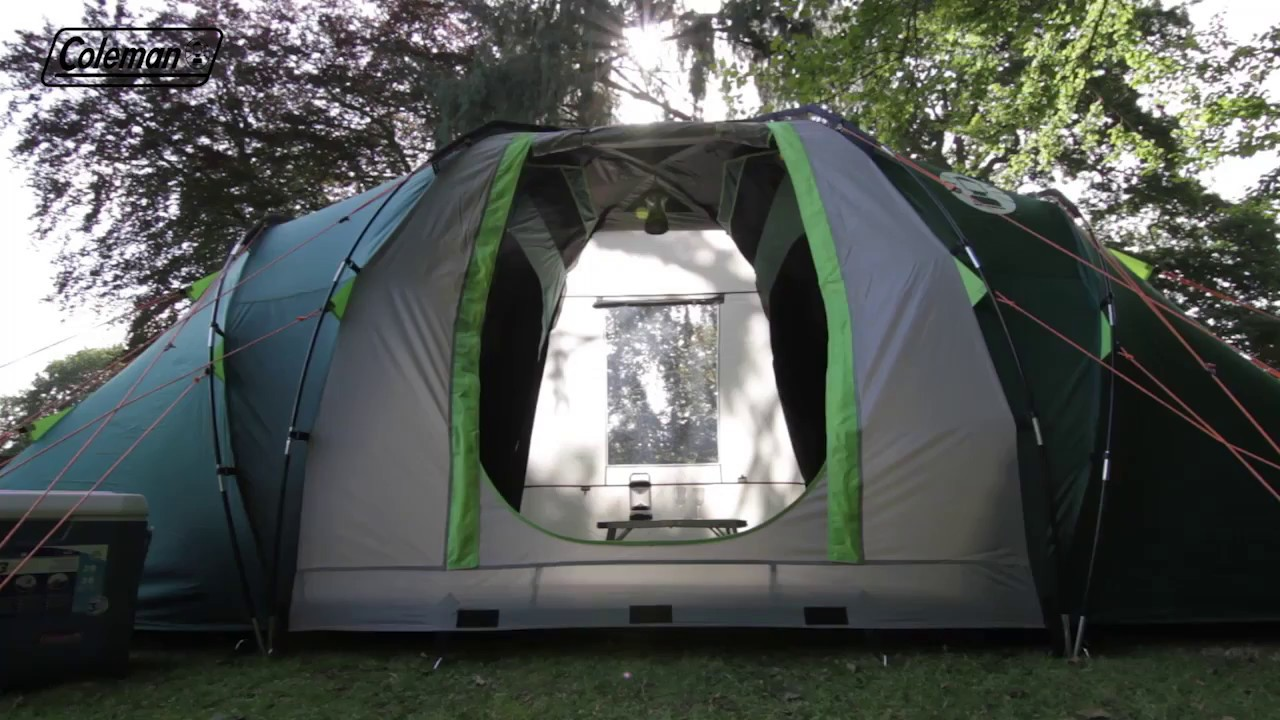 Coleman® BlackOut Bedroom Spruce Falls 4 C&ing Tent - EN & Coleman® BlackOut Bedroom Spruce Falls 4 Camping Tent - EN - YouTube